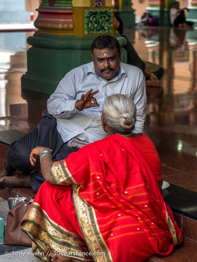 Sri Mahamariamman temple goers