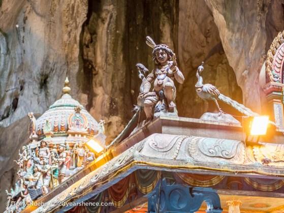 The temple inside the Batu Caves