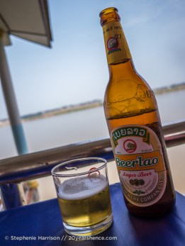 Beer Lao by the river