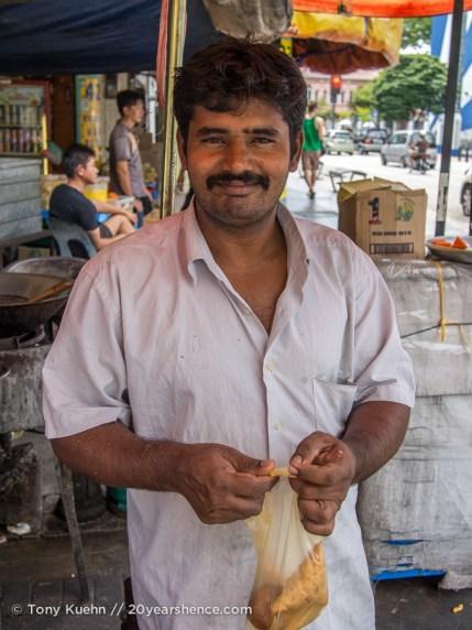 Samosa man in Penang