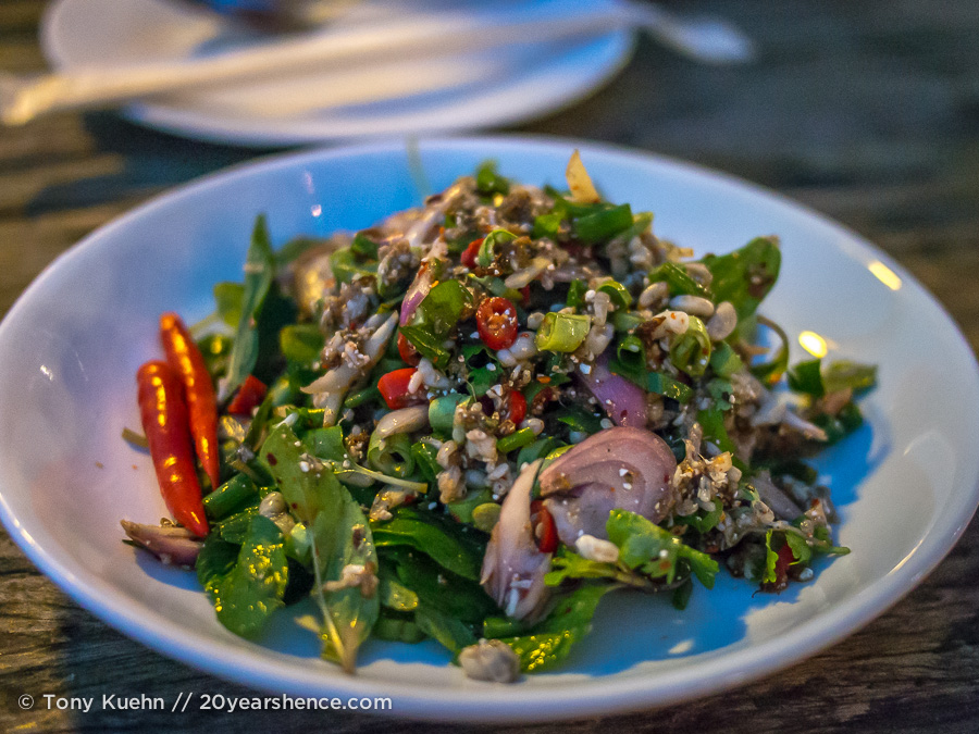 Red ant egg laab salad