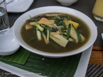 Bamboo and vegetable herbal soup