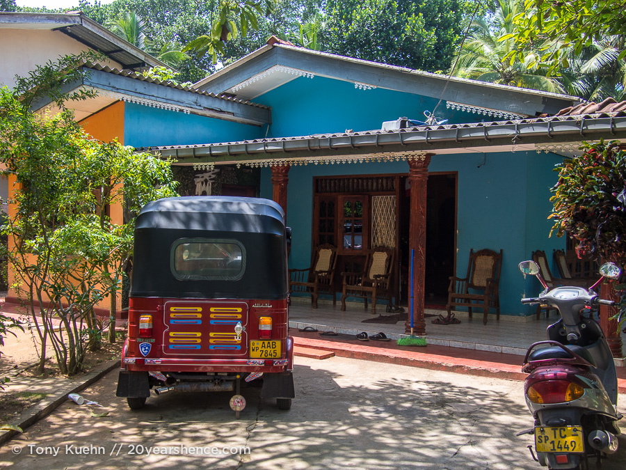 Our homestay in Ambalangoda