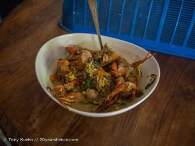 Crab curry in Ambalangoda