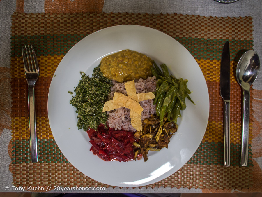 Delicious Sri Lankan vegetarian food