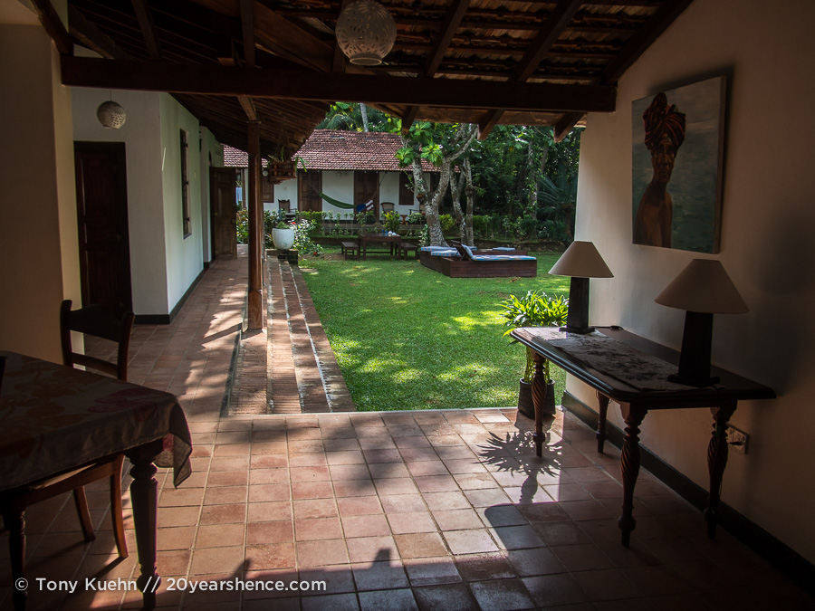 Templeberg Villa courtyard