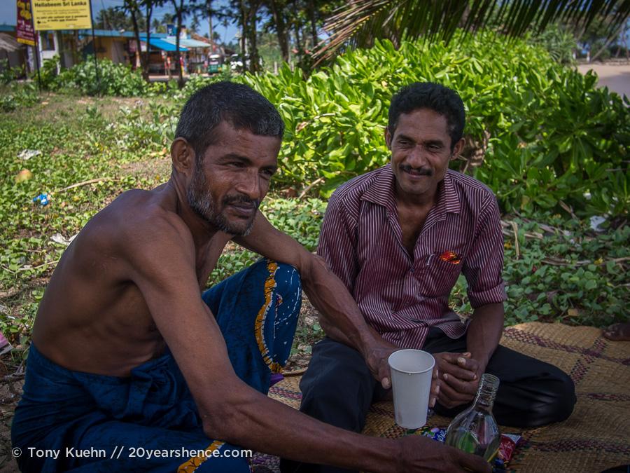 Friendly locals drinking Arrack