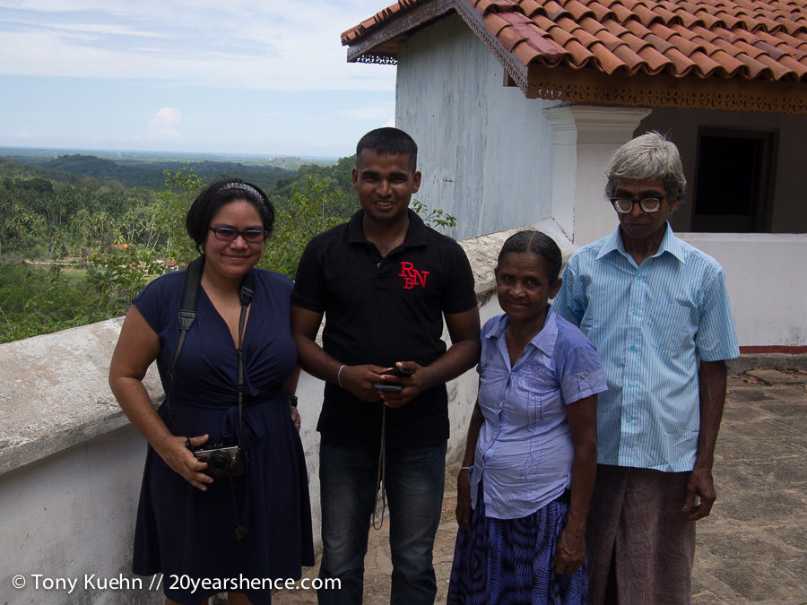 Steph with Sri Lankan family