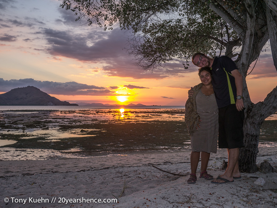 20YH sunset on Kanawa Island, Indonesia