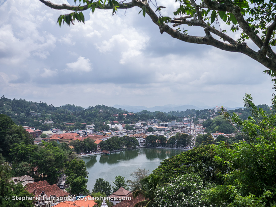 Kandy, Sri Lanka from above