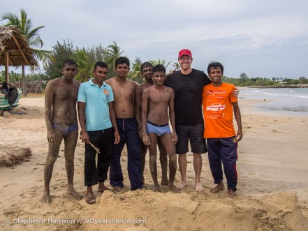A beach near Baticaloa, Sri Lanka