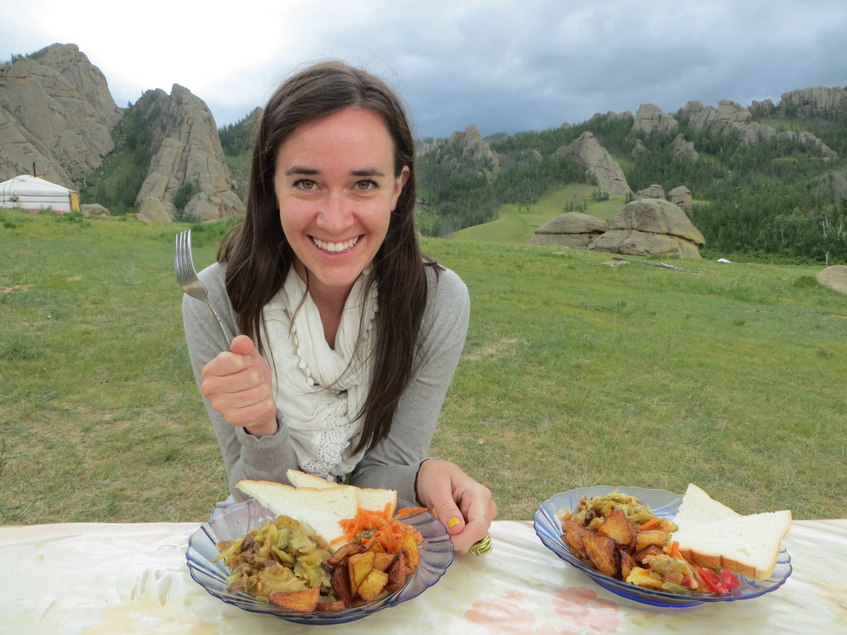 The scenery was stunning in Mongolia. But the food? Not so much!