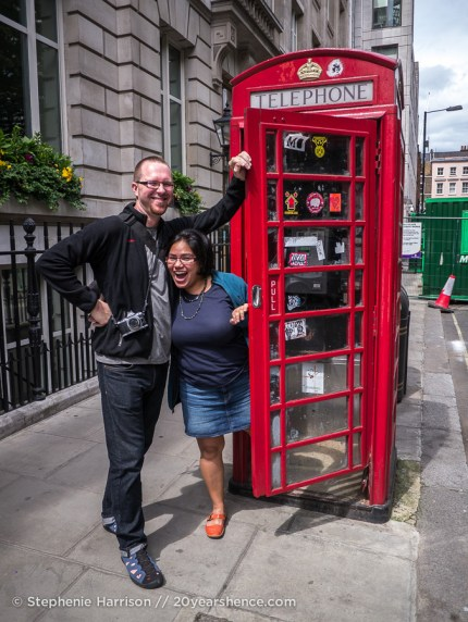 Steph and Tony investigate a public phone/emergency toilet