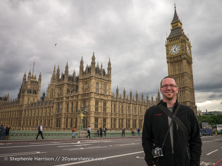 Tony in front of the parliment building, London