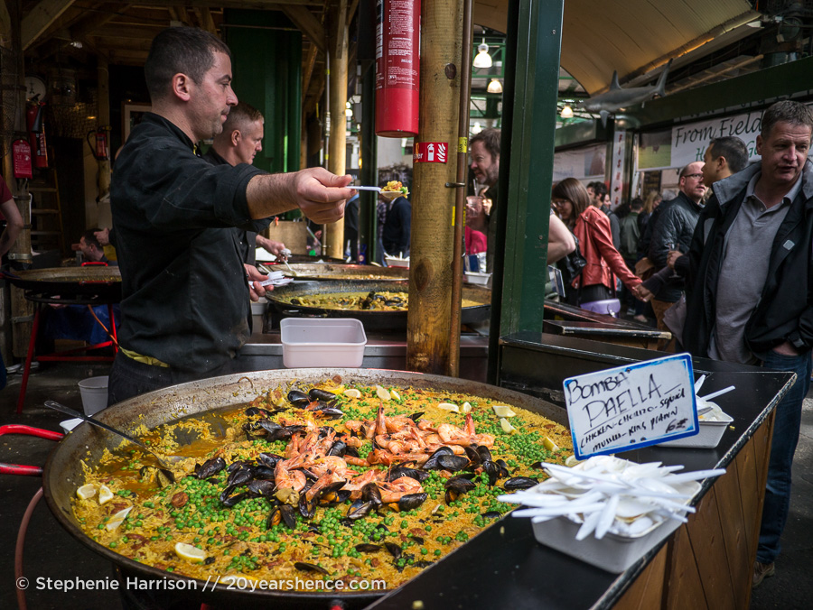 Paella vendor, Borough Market, London