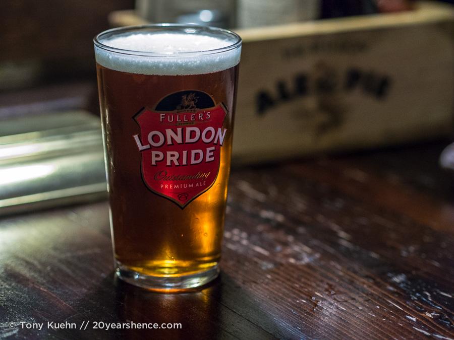 A pint in London