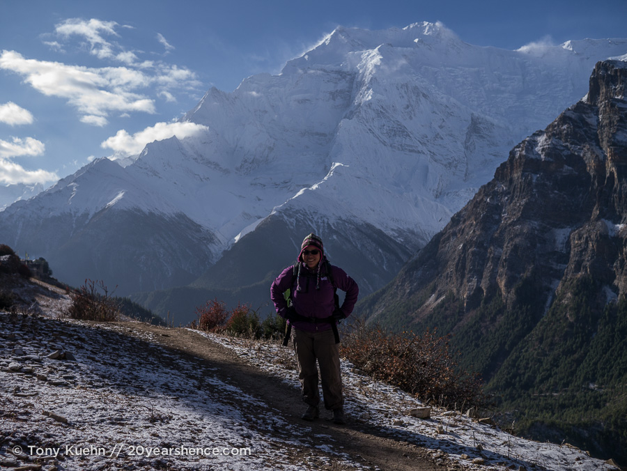 Steph in the Himalayas