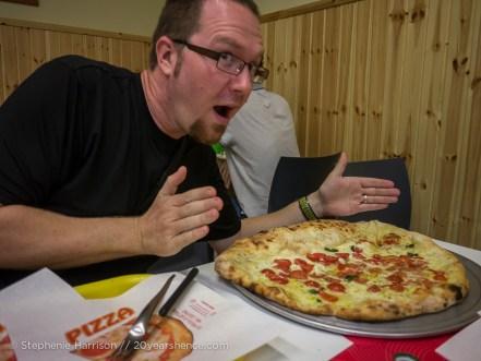"""Tony and the """"calpizza"""", Pisa, Italy"""