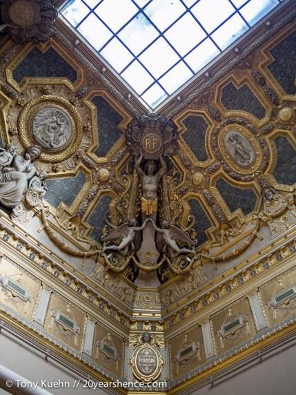 Gilded Louvre Fresco