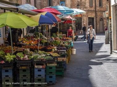 Vegetable market, Pisa, Italy