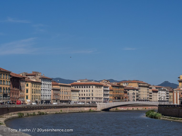The Arno river, Pisa, Italy
