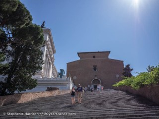 The Steps to the Santa Maria in Aracoeli