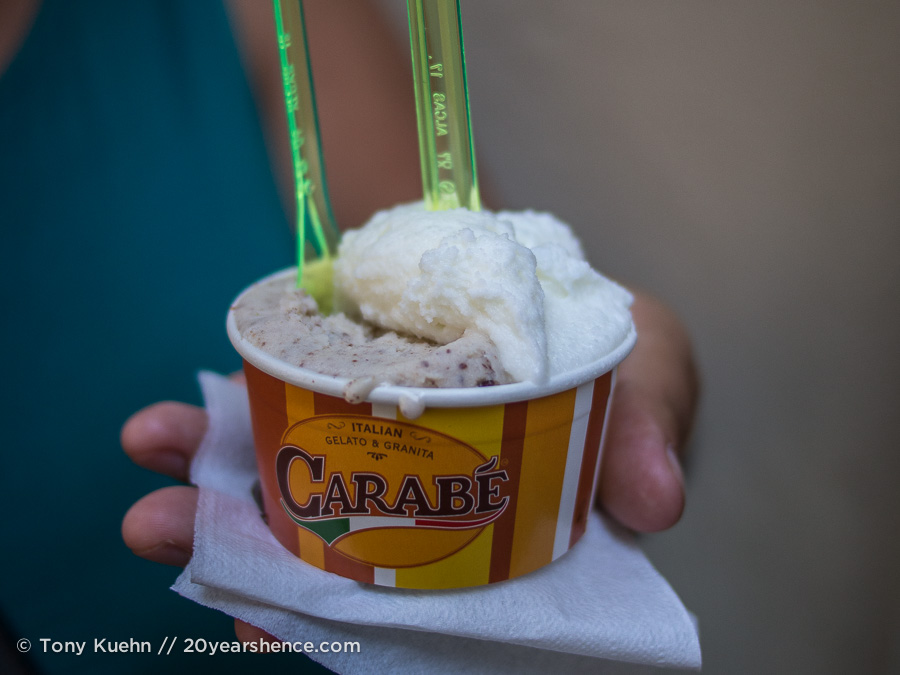 Gelato from Carabé in Florence