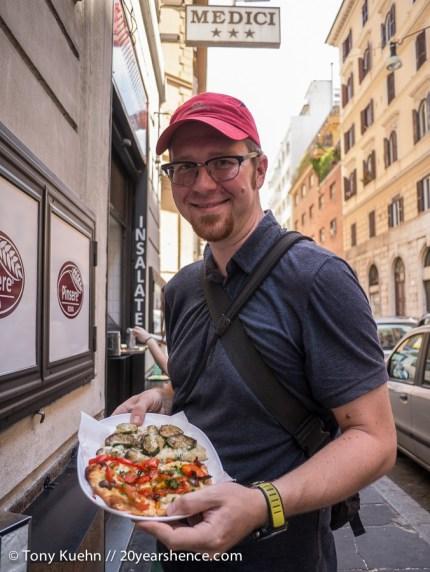 Tony with pizza