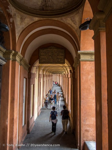 Porticos on the way up to San Luca