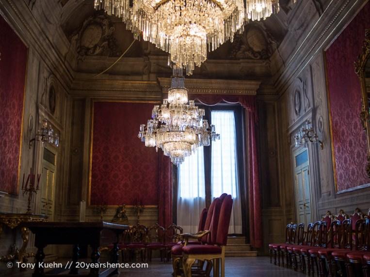 Red Room in Palazzo Comunale, Bologna