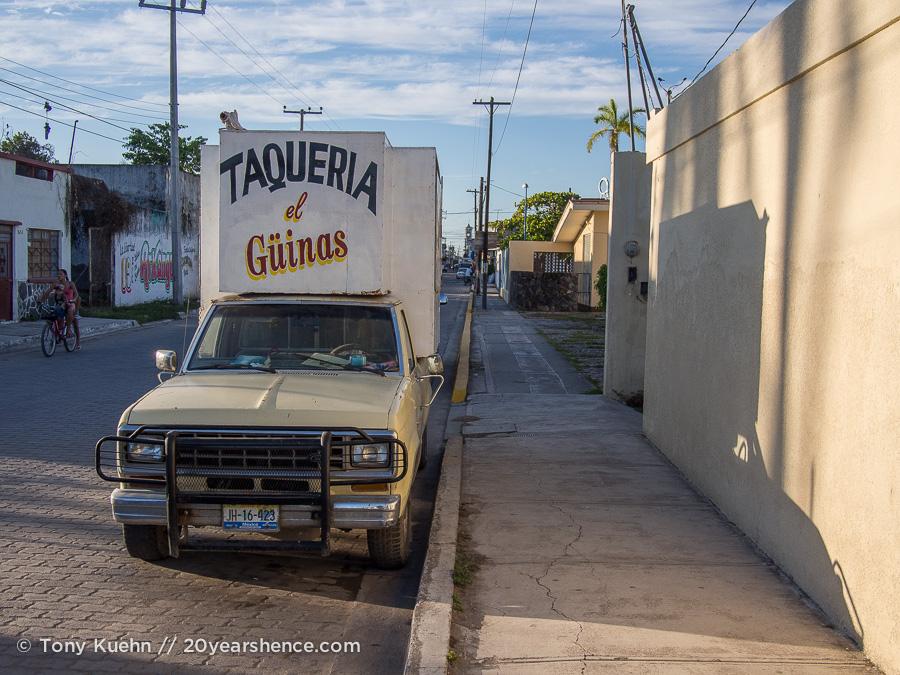 Taco truck, San Blas, Mexico