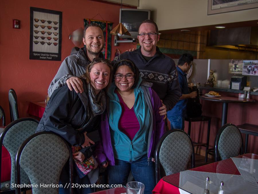 Steph, Tony, Sarah and Tyrhone