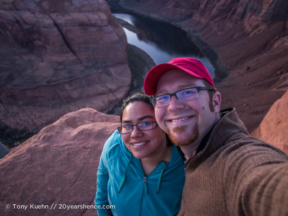 Steph and Tony at Horseshoe Bend, Page, Arizona