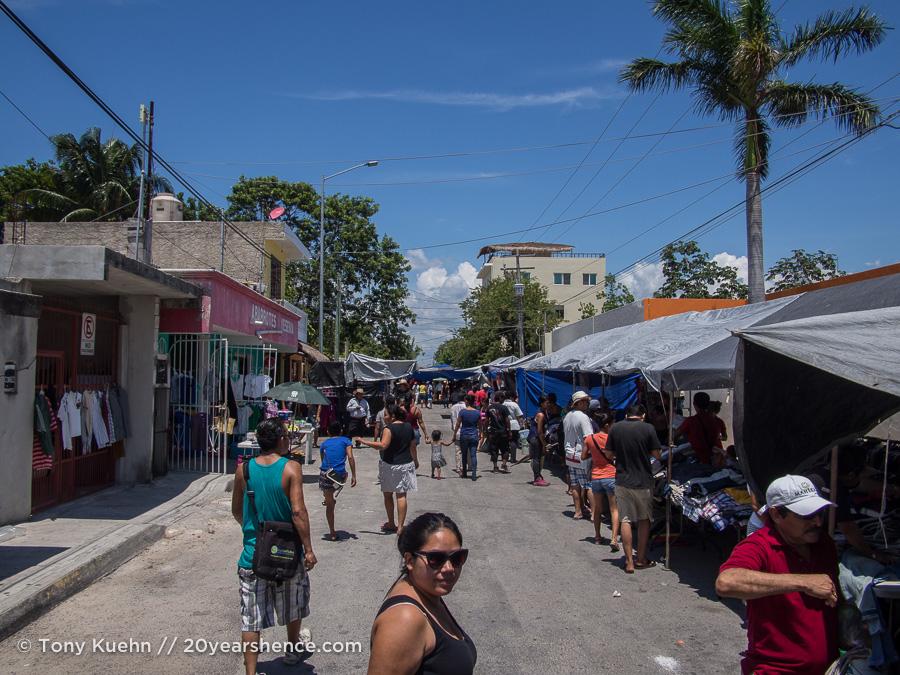 Local street market, Playa del Carmen