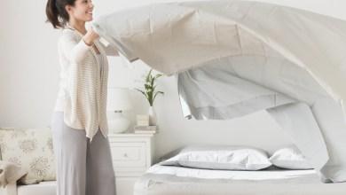 عدم غسل أغطية السرير