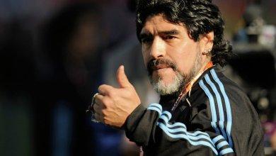 أسطورة كرة القدم الأرجنتيني دييجو مارادونا