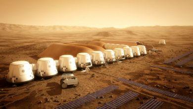 صورة تعبيرية للحياة على المريخ