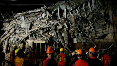 صورة للخراب الذي أحدثه الزلزال