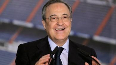رئيس نادي ريال مدريد فلورنتينو بيريز