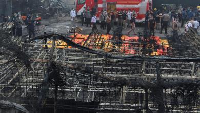 انفجار بمصنع للألعاب النارية في إندونيسيا