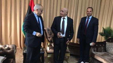 غسان سلامة ورئيس مجلس النواب عقيلة صالح