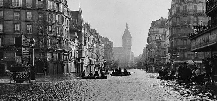 شوارع باريس خلال الفيضان العظيم