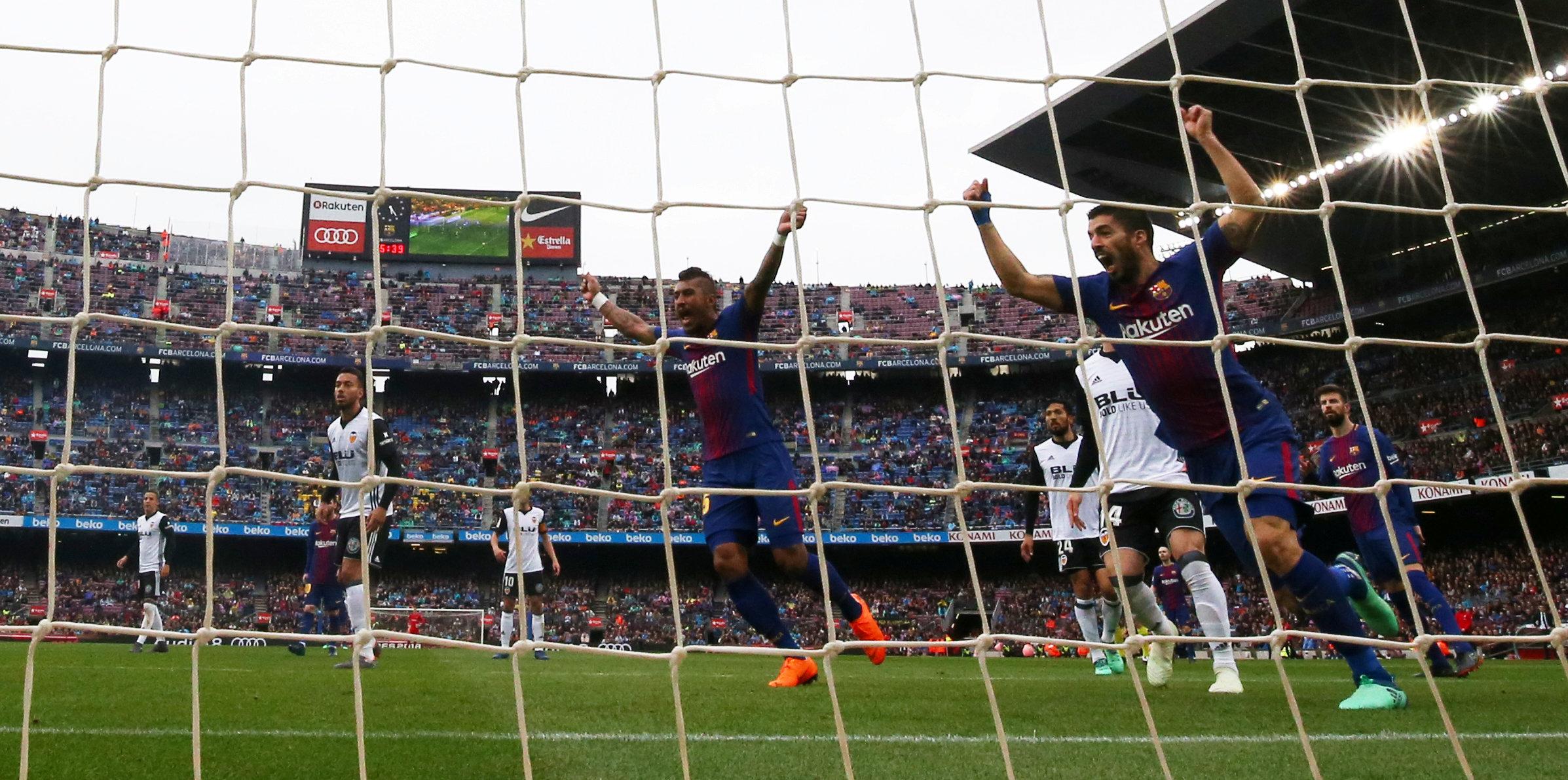 فريق برشلونة بإنتصاره على فريق بلنسية