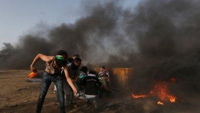 مواجهات بين الفلسطينيين والجيش الإسرائيلي على حدود قطاع غزة
