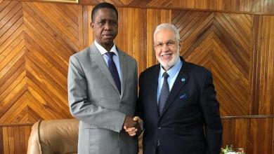 اجتماع محمد سيالة ورئيس زامبيا إدجار لونجو