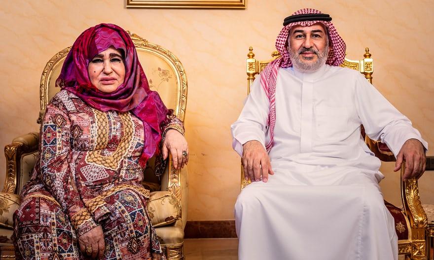 والدة أسامة بن لادن عليا غانم وشقيقه الأوسط أحمد