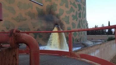 إصابة خزان وقود بعد الاشتباكات المسلحة