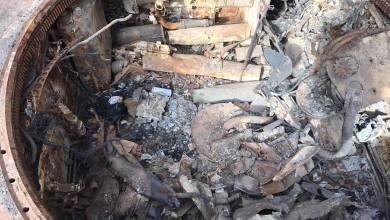حطام دبابة جنوب طرابلس