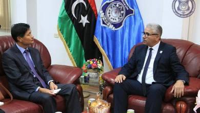 """لقاء فتحي باشاغا وسفير كوريا الجنوبية لدى ليبيا """"تشو سونغ سو"""
