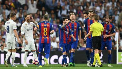 فريقي برشلونة وريال مدريد